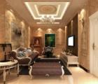 世纪豪门生态石材墙面装修效果图客厅系列