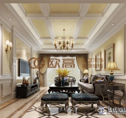 客厅集成墙面装修效果图,欧高客厅整体装修图