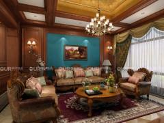 奥华墙品美式风格装修图片,美式客厅效果图