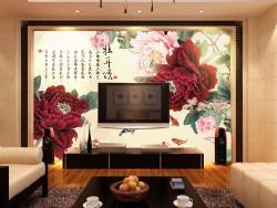 新中式电视背景墙 意象唯美雍容大度