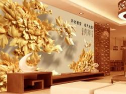 广东饰纪尚品室内浮雕背景墙装饰厂家