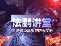测评:法鹏顶墙讲堂防火实验视频