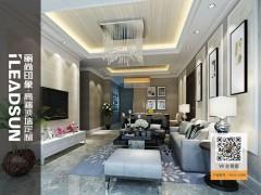 丽尚印象铝合金墙面石纹系列效果图,客厅装修效果图