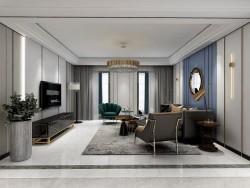 鼎美顶墙集成-木泥材系列-现代客厅