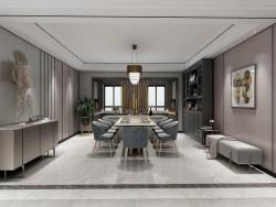 鼎美顶墙集成-木泥材系列-现代餐厅