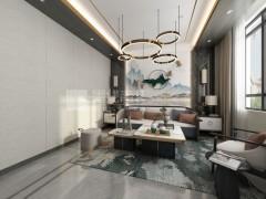 墨线青装墙品客厅背景墙效果图集
