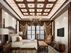 美式风卧室装修效果图,联邦尚品道美式装修图
