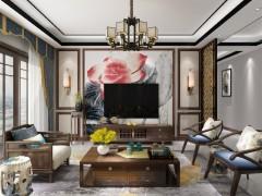 金牌速装中式风格背景墙装修效果图