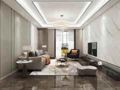 蓝姆特大板吊顶-典雅白客厅