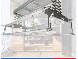 美尔凯特阳台高端智能外挂式四杆晾衣机