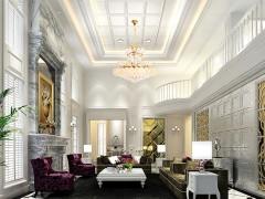 奇力吊顶墙面欧式风格客厅装修效果图