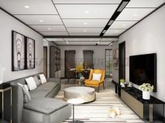 法狮龙客厅吊顶:102㎡悦尚大板装修实例