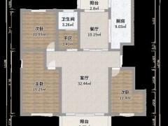 奥华顶墙:109㎡三室两厅通透无敌高端私宅范本