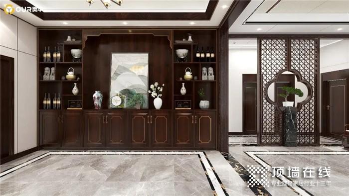 """有钱人都装新中式 157㎡别墅在奥华的设计下竟如此""""清丽"""""""