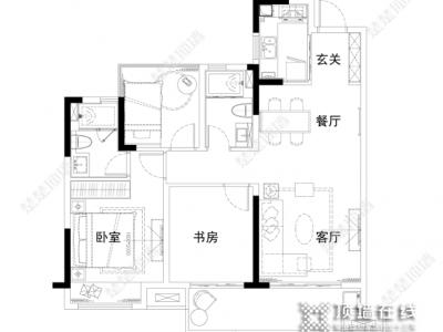 楚楚顶墙 向往的生活 120m2舒适欧式家装