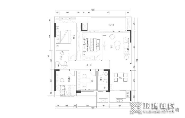 向往DE原创设计家!楚楚顶墙115㎡现代轻奢全屋顶墙设计!